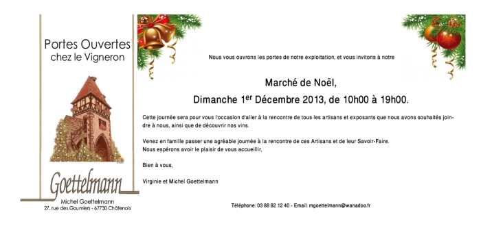 Marché de Noël au Domaine